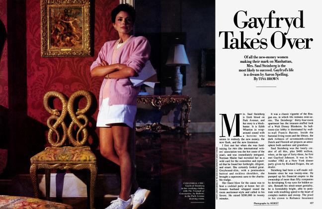 Article Preview: Gayfryd Takes Over, November 1986 1986 | Vanity Fair