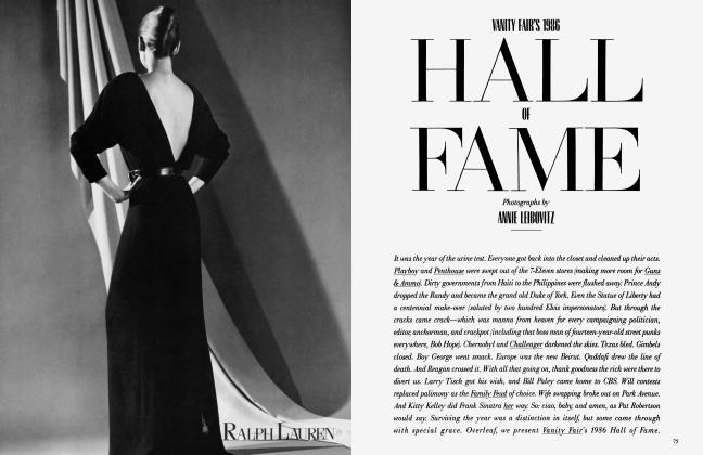 Article Preview: HALL OF FAME, December 1986 1986 | Vanity Fair