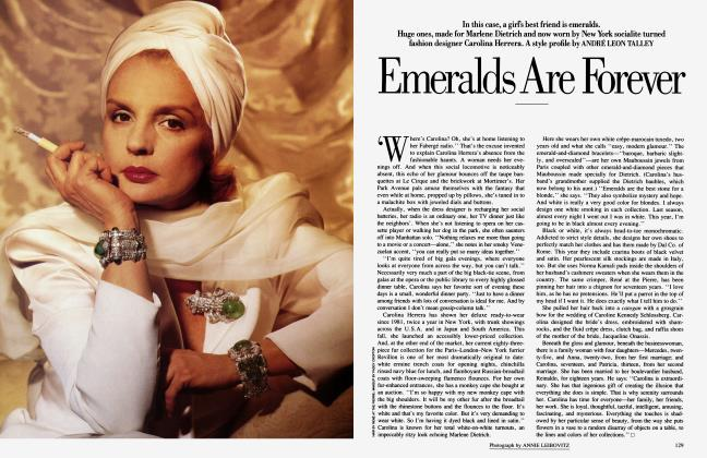 Article Preview: Emeralds Are Forever, December 1986 1986 | Vanity Fair