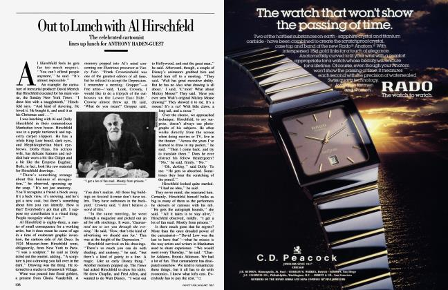 Article Preview: Out to Lunch with Al Hirschfeld, January 1987 1987 | Vanity Fair