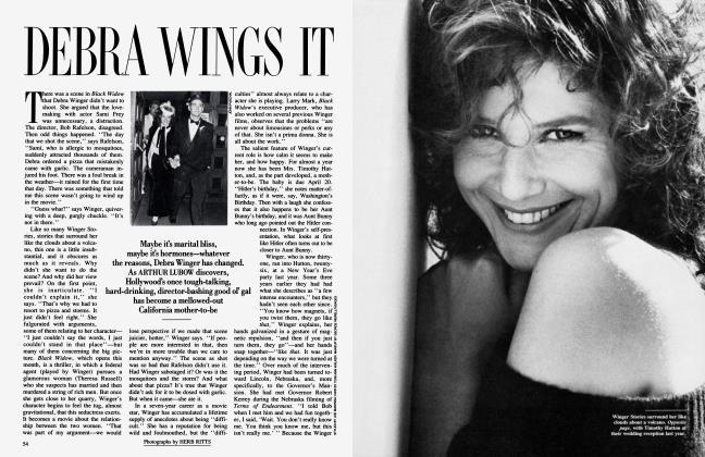 Article Preview: DEBRA WINGS IT, February 1987 1987 | Vanity Fair