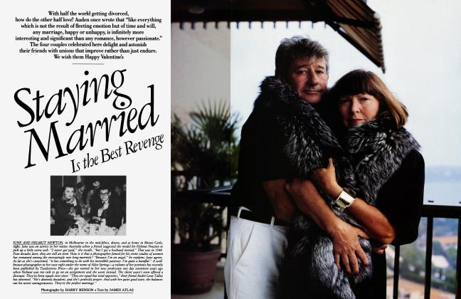 Article Preview: Staying Married Is the Best Revenge, February 1987 1987 | Vanity Fair