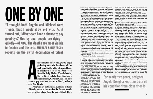 Article Preview: ONE BY ONE, March 1987 1987 | Vanity Fair