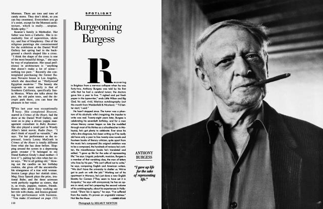 Article Preview: Burgeoning Burgess, March 1987 1987 | Vanity Fair