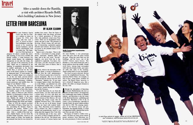 Article Preview: LETTER FROM BARCELONA, April 1987 | Vanity Fair