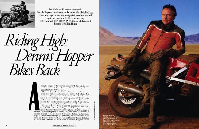 Article Preview: Riding High: Dennis Hopper Bike Bake, April 1987 | Vanity Fair