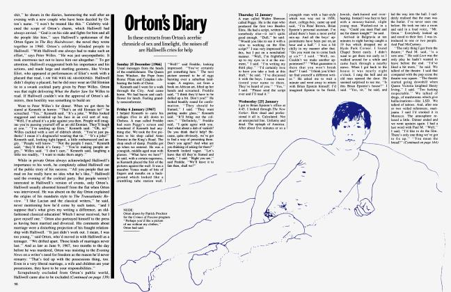 Article Preview: Orton's Diary, April 1987 | Vanity Fair