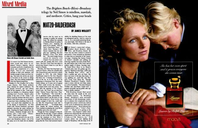 Article Preview: MATZO-BALDERDASH, May 1987 1987 | Vanity Fair