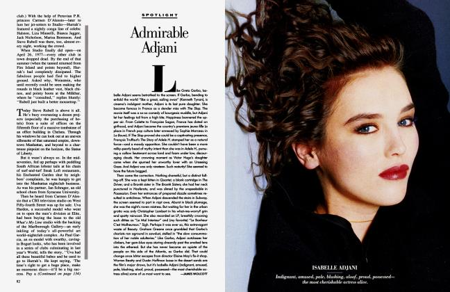 Article Preview: Admirable Adjani, May 1987 1987 | Vanity Fair