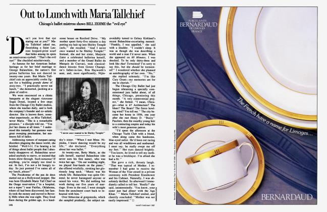 Article Preview: Out to Lunch with Maria Tallchief, May 1987 1987   Vanity Fair