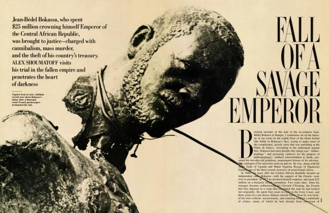 Article Preview: FALL OF A SAVAGE EMPEROR, June 1987 1987 | Vanity Fair