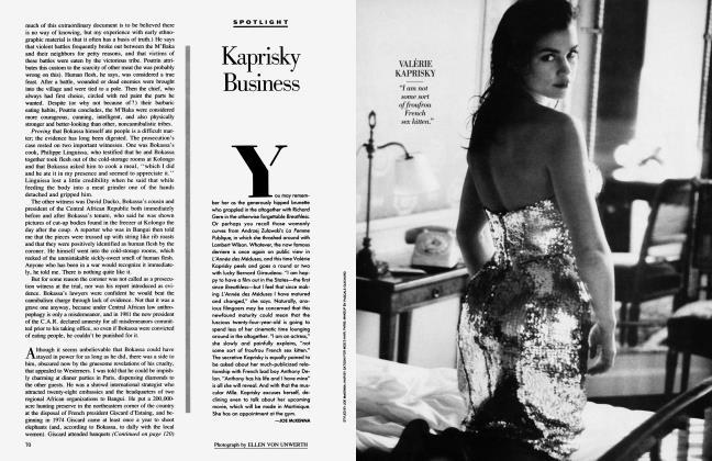 Article Preview: Kaprisky Business, June 1987 1987 | Vanity Fair