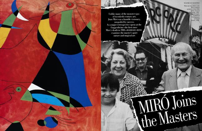 Article Preview: MIRÓ Joins the Masters, June 1987 | Vanity Fair