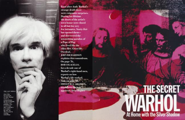 Article Preview: THE SECRET WARHOL At Home with the Silver Shadow, July 1987 | Vanity Fair