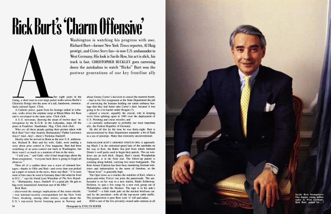 Article Preview: Rick Burt's 'Charm Offensive', July 1987 | Vanity Fair