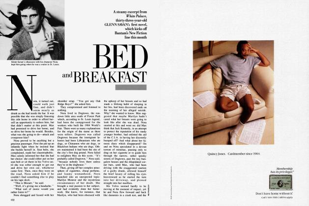 Article Preview: BED and BREAKFAST, July 1987 | Vanity Fair
