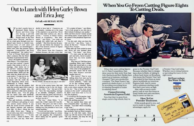 Article Preview: Out to Lunch with Helen Gurley Brown and Erica Jong, July 1987 1987 | Vanity Fair