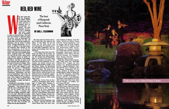 Article Preview: RED, RED WINE, August 1987 1987 | Vanity Fair