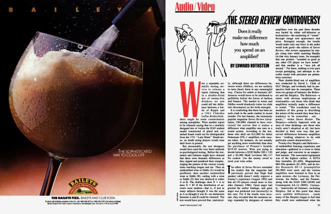 Article Preview: THE STEREO REVIEW CONTROVERSY, August 1987 1987 | Vanity Fair