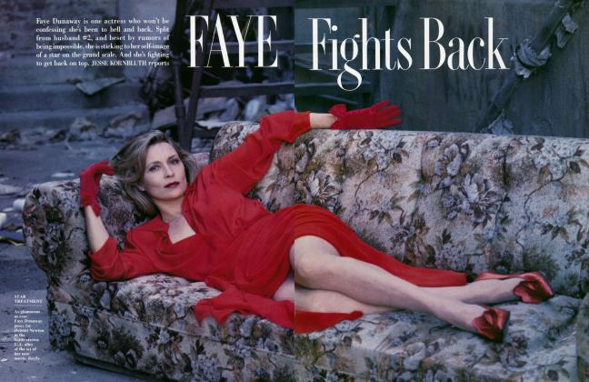 Article Preview: FAYE FIGHTS BACK, August 1987 1987 | Vanity Fair
