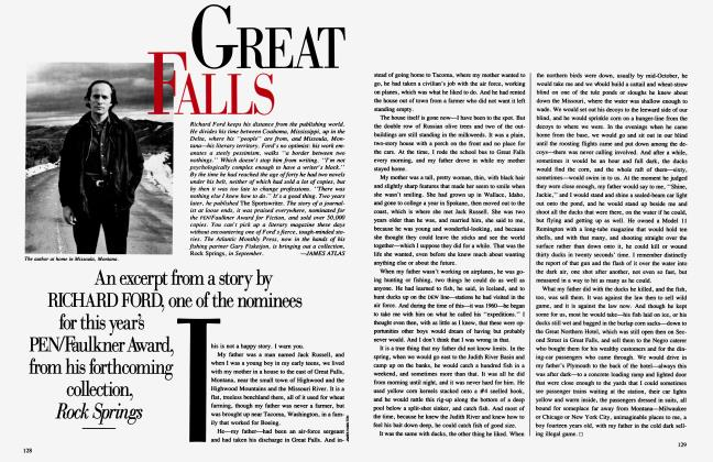 Article Preview: GREAT FALLS, August 1987 1987 | Vanity Fair