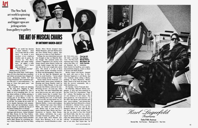 Article Preview: THE ART OF MUSICAL CHAIRS, September 1987 1987 | Vanity Fair