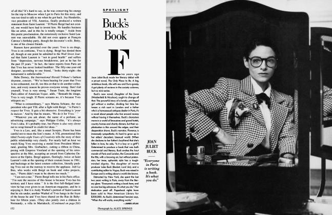 Article Preview: Buck's Book, September 1987 1987 | Vanity Fair