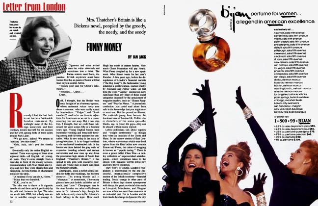Article Preview: FUNNY MONEY, October 1987   Vanity Fair