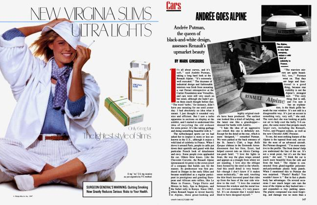 Article Preview: ANDRÉE GOES ALPINE, October 1987 1987 | Vanity Fair