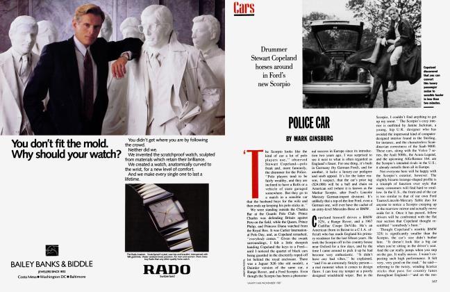 Article Preview: POLICE CAR, November 1987 1987   Vanity Fair