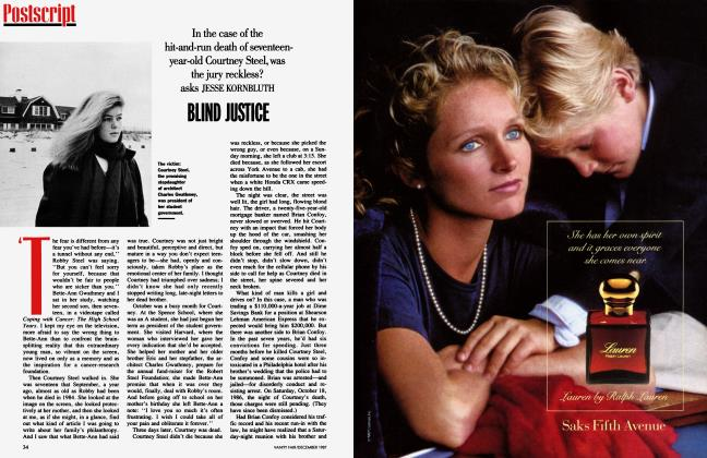Article Preview: BLIND JUSICE, December 1987 1987 | Vanity Fair