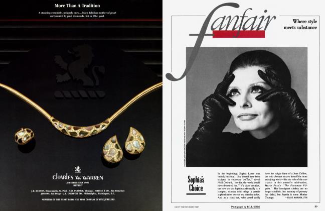Article Preview: Sophia's Choice, December 1987 1987   Vanity Fair