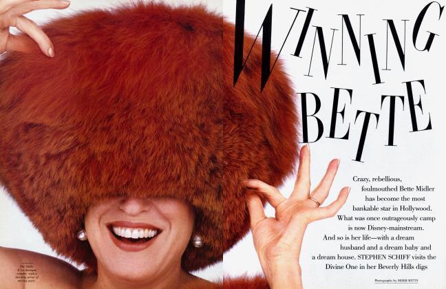 Article Preview: WINNING BETTE, December 1987 1987 | Vanity Fair