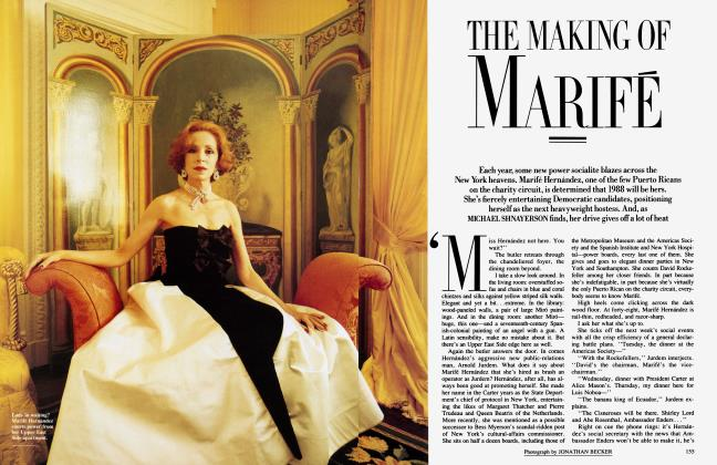 Article Preview: THE MAKING OF MARIFÉ, December 1987 1987 | Vanity Fair
