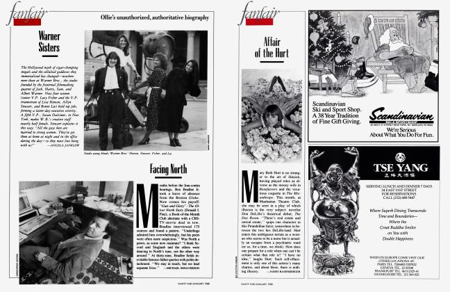 Article Preview: Facing North, January 1988 1988 | Vanity Fair
