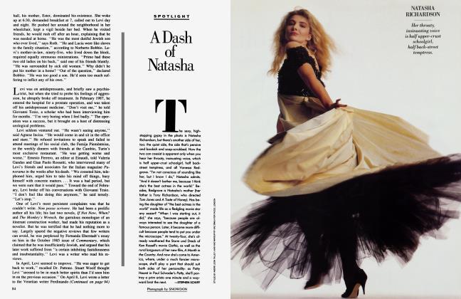 Article Preview: A Dash of Natasha, January 1988 1988 | Vanity Fair