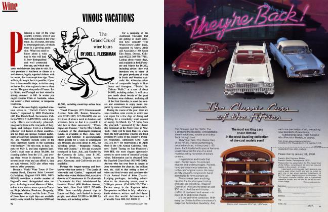 Article Preview: VINOUS VACATIONS, January 1988 1988 | Vanity Fair