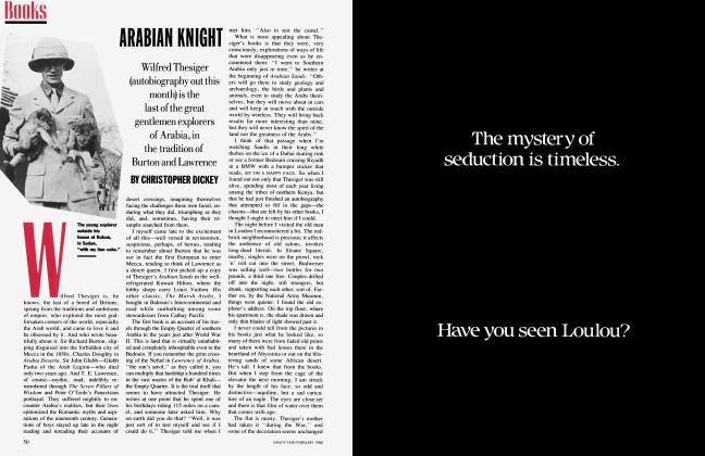 Article Preview: ARABIAN KNIGHT, February 1988 | Vanity Fair