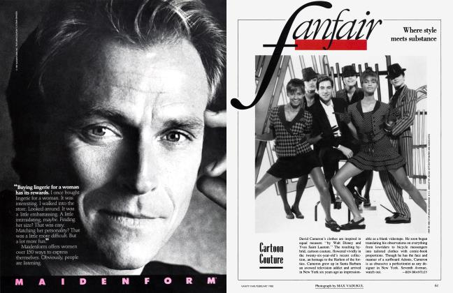 Article Preview: Cartoon Couture, February 1988 1988 | Vanity Fair
