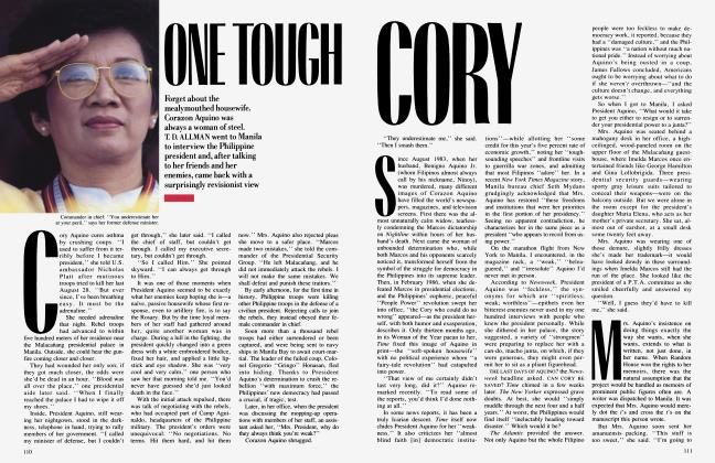 Article Preview: ONE TOUGH CORY, February 1988 | Vanity Fair