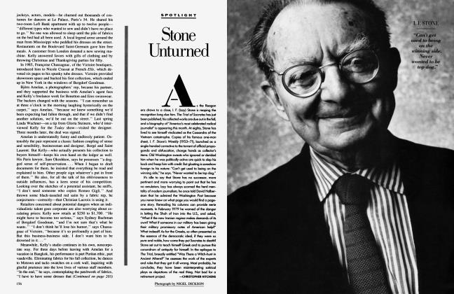 Article Preview: Stone Unturned, March 1988 1988 | Vanity Fair
