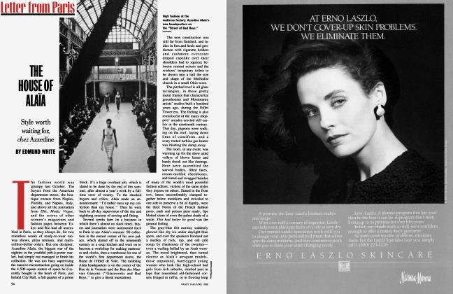 Article Preview: THE HOUSE OF ALAÏA, April 1988 | Vanity Fair