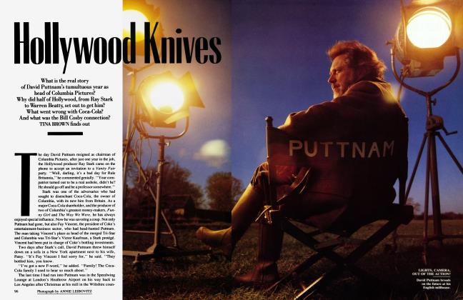 Article Preview: Hollywood Knives, April 1988 1988 | Vanity Fair
