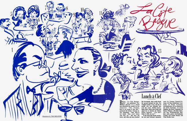 Article Preview: Lunch à Clef, April 1988 1988   Vanity Fair