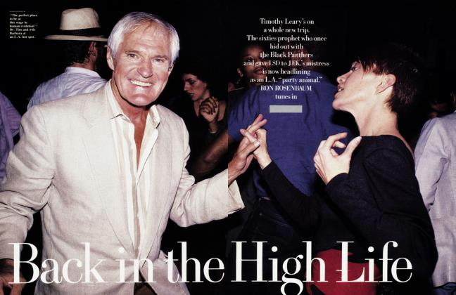 Article Preview: Back in the High Life, April 1988 | Vanity Fair