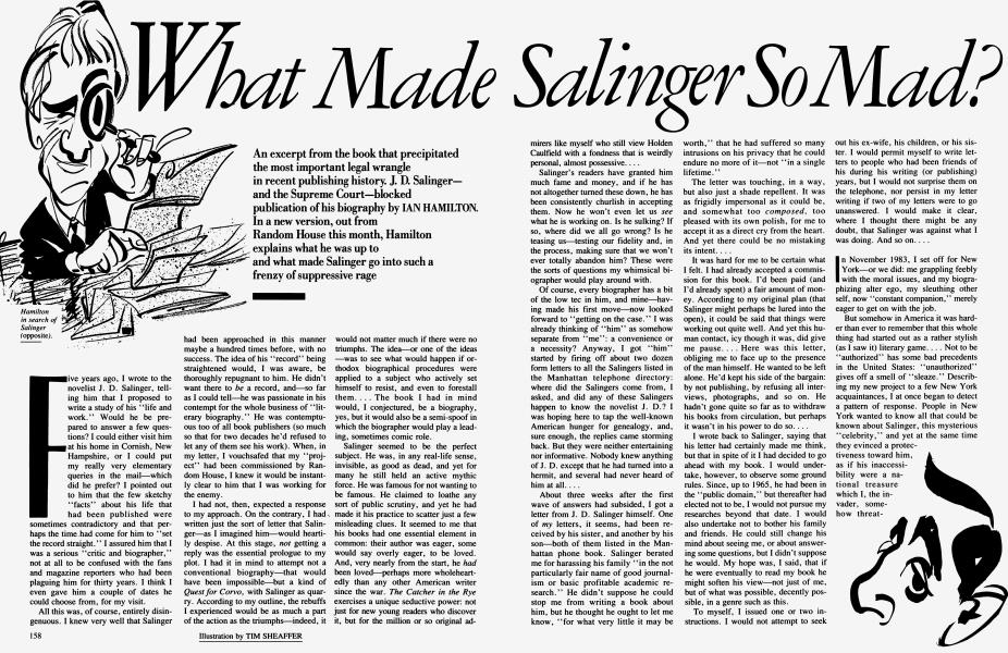 What Made Salinger So Mad?