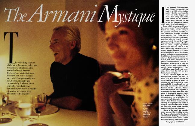 Article Preview: The Armani Mystique, June 1988 | Vanity Fair