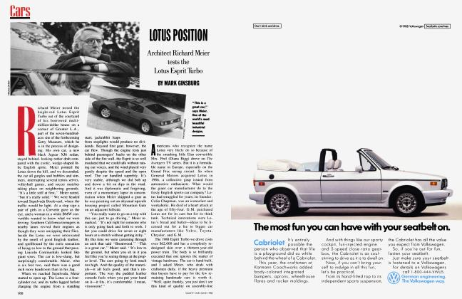 Article Preview: LOTUS POSITION, June 1988 1988 | Vanity Fair