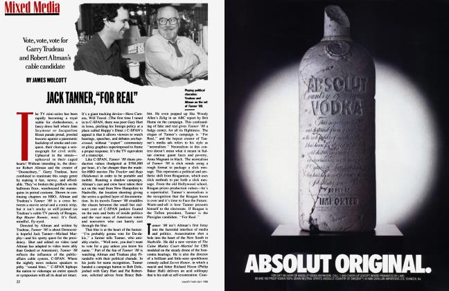 """Article Preview: JACK TANNER,""""FOR REAL"""", July 1988 
