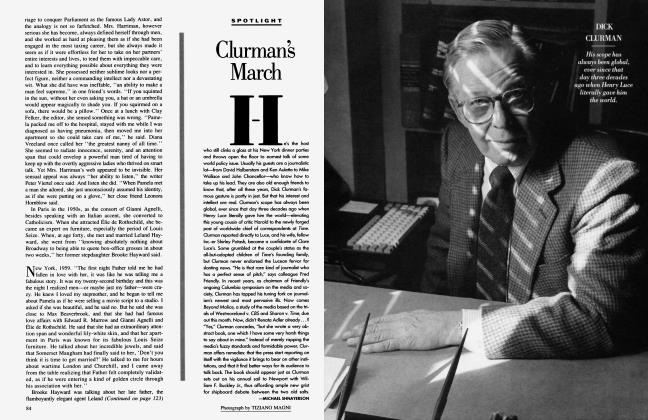 Article Preview: Clurman's March, July 1988 1988 | Vanity Fair